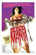 BLOOD MANIA MOVIE POSTER Terror Screams RARE HOT NEW