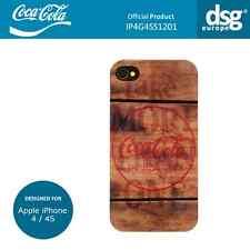 Coca-cola véritable design en bois étui housse coque pour apple iphone 4/4S
