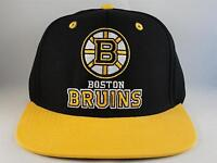 Boston Bruins NHL Reebok Retro Snapback Hat Cap Black Gold