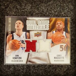 Dirk Nowitzki Trading Card - DUAL GAME MATERIAL - TRIKOT PATCH - COREY MAGGETTE