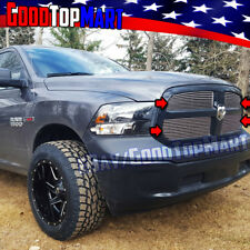 For Dodge RAM 1500 2013 2014 2015 Polished 4PC Upper Main OVERLAY Grilles Grill