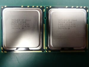 MATCHED PAIR Intel Xeon Processor CPU SLBV6 X5660 12M Cache 2.8 GHz 6.4GT/s 95w