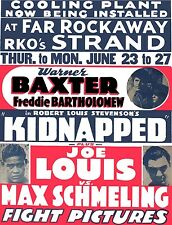 JOE LOUIS vs MAX SCHMELING 8X10 PHOTO BOXING POSTER PICTURE