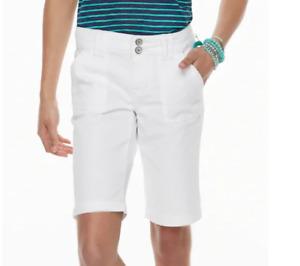 Women's Unionbay Blanche Solid Bermuda Shorts Beige or White, Sizes:0, 11, 15,17