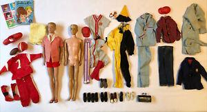 Vintage 1960s Barbie Ken Doll Lot #750 Football Baseball Hiking Halloween Outfit