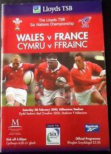 2000 WALES v FRANCE programme