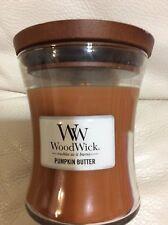 Woodwick Pumpkin Butter 9.7oz Candle NEW!  Free Shipping Yankee Medium