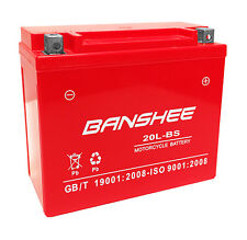 Banshee replaces YTX20L-BS For Walmart ES20LBS Battery-4 Year Warranty