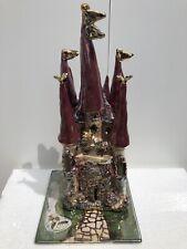 Blue Sky Clayworks Heather Goldminc Ceramic Rambling Rose Castle Tea Light