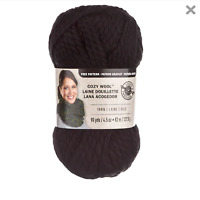 Loops and Threads Cozy Wool Yarn Super Bulky 6 90 Yards Each in Black 2 Bundles