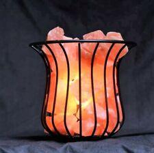 Himalayan Salt Lamp Crystal Pink Salt Basket Healing Ionizing wd Dimmable Button