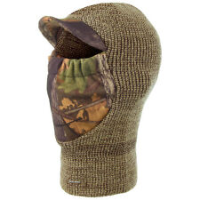 Jack Pyke Double Knitted Warm Balaclava Hunting Shooting English Oak Camo Brown