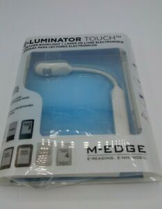 E-Luminator Touch EReader Book Light by M-Edge, White, New UnOpened
