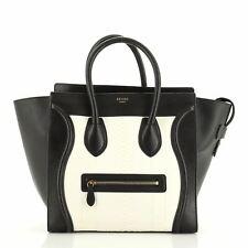 Celine Luggage Bag Python and Leather Mini