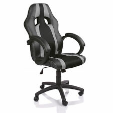 SILLA DE OFICINA SILLON DE DESPACHO ESTUDIO DIRECCION GIRATORIA RACING GRIS