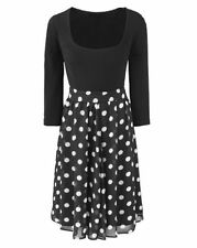 Round Neck Midi Spotted Dresses for Women