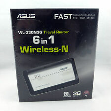 ASUS 150Mbps 6 Mode-in-1 Portable Travel Router (WL-330N3G) NEW Sealed HTF