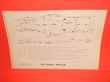 1959 RAMBLER AMERICAN DELUXE SUPER BUSINESS SEDAN WAGON FRAME DIMENSION CHART
