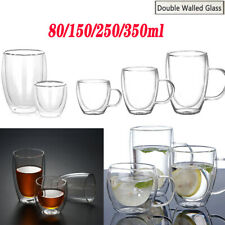 Double Walled Glass Coffee Tea Milk Insulated Cups Beer Tumbler with Handles