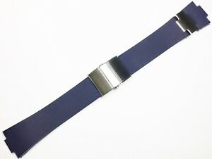 25mm Strap Blue Rubber Watch Band FIT Ulysse Nardin Marine Chronometer + CLASP
