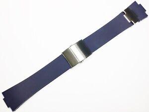 25mm Strap Blue Rubber Watch Band FIT Ulysse Nardin Marine Chronometer + CLASP