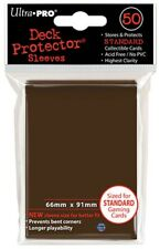 Ultra Pro Brown 50 Count Pack Standard Deck Protector Sleeves Pre 2018
