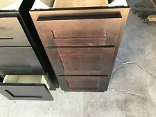 "15"" Bathroom 14.5"" x 21"" inch Coffee Color 3 drawer bathroom vanity cabinet 15 """