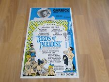 Moira Lister & Robert Coote in BIRDS of PARADISE Original GARRICK Theatre Poster