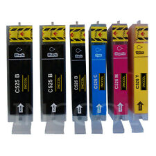 6 Compatible replacements for Canon PGI-525 / CLI-526 printer ink cartridges.