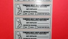 "5 CAM TIMING BELT WATER PUMP REPLACEMENT STICKER REMINDER 3""X1"" ERMA755299"