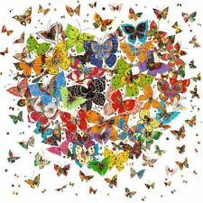 Full Drill DIY 5D Diamond Painting Butterfly Heart Embroidery Cross Stitch 30x30