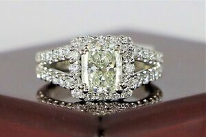 $28,000 GIA 14K White Gold 2.65ct J VS2 Radiant Round Diamond Engagement Ring
