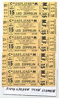 Five (5) Led Zeppelin Full 1980 Contiguous Concert Tickets - John Bonham Death