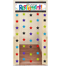 6ft Happy Retirement Door Banner + Star Curtain Dangler Hanging Party Decoration