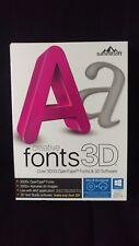 New Sealed Summitsoft creative fonts 3D