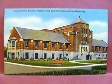 Postcard IN Terre Haute Indiana State Teachers College Student Union Building