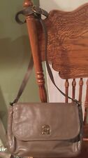 Etienne Aigner Vintage Taupe Leather Crossbody Shoulder Purse Excellent!