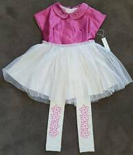 NWT Wovenplay glass menagerie girls tutu and matching leggings set Size 4-5
