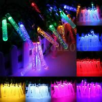 4.8M 20 LED Bubble Icicle Fairy String Light Solar Power Christmas Part