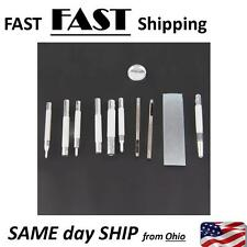 11pcs Metal Leather Craft Tool Die Hole Punch Snap Fastener Installation Kit