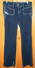 Women's DIESEL HUSH Made in Italy Jeans Boot Cut Blue Denim Zip Fly Size 29