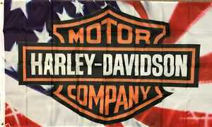 Harley Davidson Fahne U.S.A. 150 x 90 cm Route 66 USA Amerika Road Glide Iron Fa