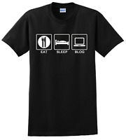 Eat Sleep Blog - Bloggers T-Shirt - Blogging T-Shirt - Many Colors Available