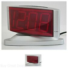 Sharp Swivel Adjustable Head LED Digital Alarm Clock Snooze Time Wake Wake Up