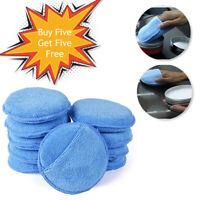 "10pcs 5"" Microfiber Car Wax Applicator Pads Cleaning Polish Pads Foam Sponge Pad"