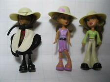 "Bratz Fashion Dolls Mcdonalds 5"" Happy Meal mini Toys~Yasmin Sasha Aa w/Cape"