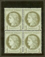 """FRANCE STAMP TIMBRE N° 50 """" CERES 1c VERT-OLIVE 1872 BLOC DE 4 """" NEUF xx TB"""
