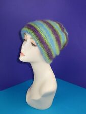 PRINTED KNITTING INSTRUCTIONS- ANGEL PRINT MOHAIR SLOUCH HAT KNITTING PATTERN