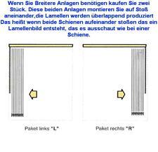 Lamellen Vorhang Maß Anfertigung Breite 400 cm x Höhe 250 cm Mischgewebe grau