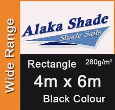 Extra Heavy Duty Shade Sail Black Rectangle 4x6m, 4m x 6m, 4 by 6m, 4 x 6m 4mx6m